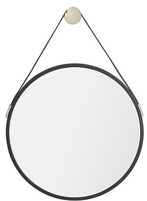 Jensen Black Leather Mirror