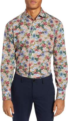 Eton Slim Fit Floral Dress Shirt