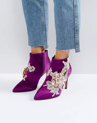 Asos Design ELEGANCE Embellished Pointed Ankle Boots