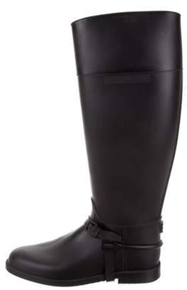 Givenchy Rubber Knee-High Boots Black Rubber Knee-High Boots