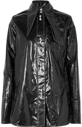 Ellery Supernova Coated-cotton Shirt - Black