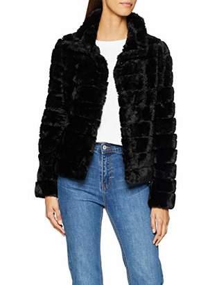 Vila CLOTHES Women's Vifarry Faux Fur Short Jacket-noos Jacket,(Manufacturer Size: 40)