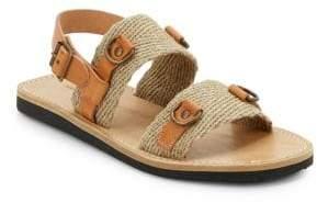 Etoile Isabel Marant Leather & Burlap Sandals