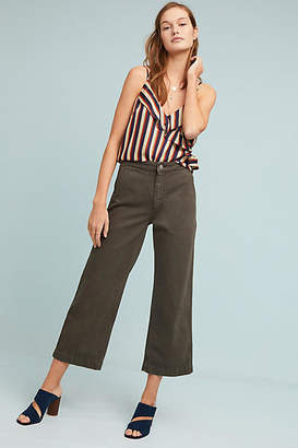 DL1961 Hepburn High-Rise Cropped Wide-Leg Jeans