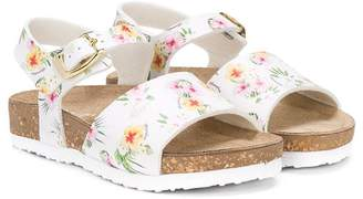 MonnaLisa hibiscus print sandals