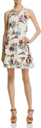 AQUA Floral Halter Dress - 100% Exclusive $78 thestylecure.com