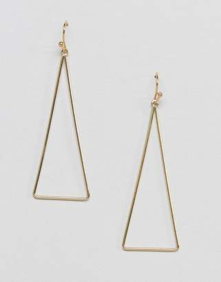 NY:LON triangle drop earrings