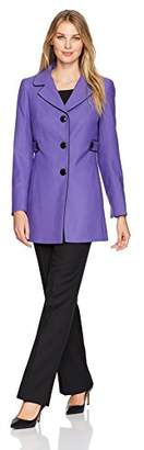 Le Suit Women's Crepe 3 Button Notch Lapel Pant Suit