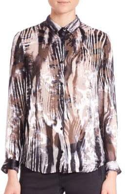 The Kooples Zebra Burnout Blouse