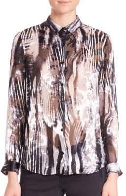 The Kooples Zebra Burnout Blouse