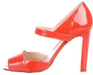 Manolo Blahnik Brijuni Patent Leather Sandals w/ Tags