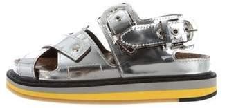Maison Margiela Metallic Flatform Sandals w/ Tags