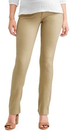 Oh! Mamma Maternity Stretch Twill Bootcut Pants -- Available in plus Sizes