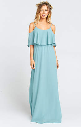 Show Me Your Mumu Caitlin Ruffle Maxi Dress ~ Poolside Chiffon