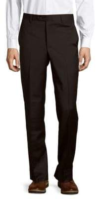 Solid Wool Dress Pants