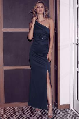 2d033620058 Next Lipsy Sequin One Shoulder Maxi Dress - 6