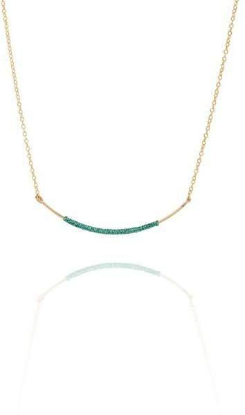 Styleserver DE By Boe Halskette Curved Wand vergoldet - türkis