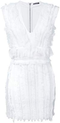 Balmain fringed mini dress