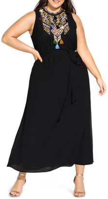 City Chic Urban Sleeveless Maxi Dress