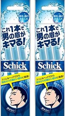 Schick シック メンズ Lディスポ 使い捨て 顔・眉毛用 3本入×2個