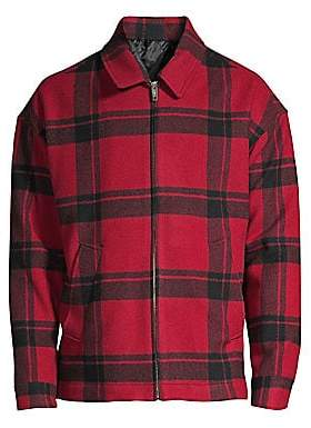 The Kooples Men's Plaid Trapper Jacket
