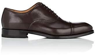 Barneys New York Men's Cap-Toe Leather Balmorals - Dk. brown