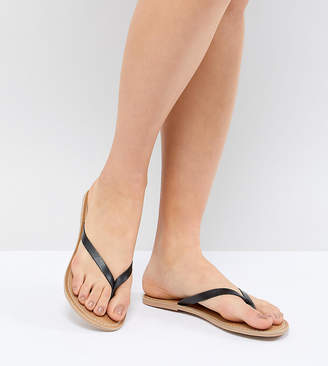 London Rebel Leather Flat Sandals