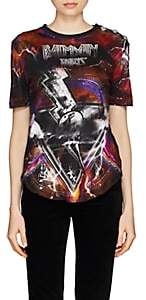 Balmain Women's Galaxy-Print Cotton Jersey T-Shirt - Black