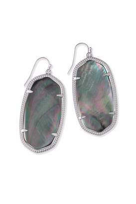 Kendra Scott Black Pearl Danielle Earrings
