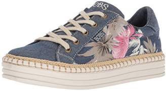 Skechers BOBS Women's Tropical Print Wedge Sneaker