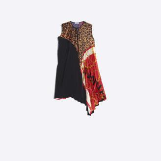 Balenciaga Multi paneled pleated asymmetrical dress