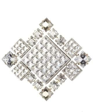 Lanvin Crystal Diamond Square Brooch/Necklace