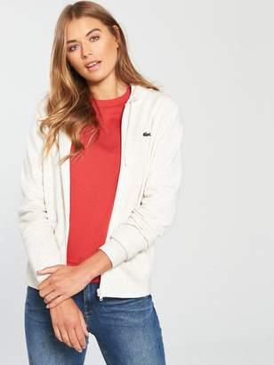 Lacoste Hooded Sweatshirt - White