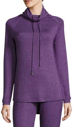 Asstd National Brand Long Sleeve Sweaterknit Sleep Top w/ Hood