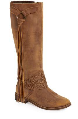 Very Volatile Cobblestone Fringe Riding Boot