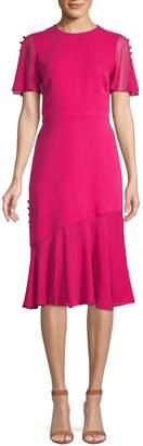 Prabal Gurung Button-Trimmed Silk Dress