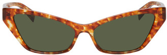 Alain Mikli Paris Tortoiseshell and Green Le Matin Sunglasses
