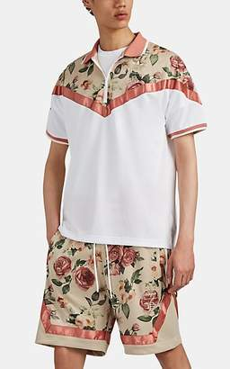adidas Men's Floral Mesh Polo Shirt - Sand