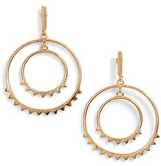 Rebecca Minkoff Spiked Concentric Hoop Earrings