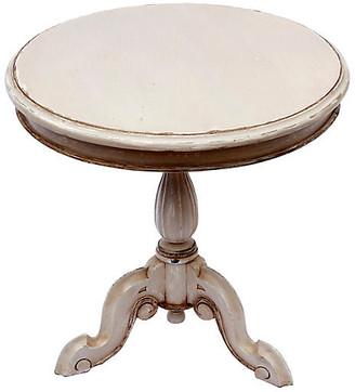 One Kings Lane Vintage Antique Gray Pedestal Table - Fleur de Lex Antiques