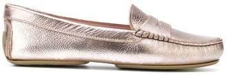 Pretty Ballerinas classic metallic loafers