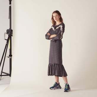 Sandro Long bohemian print dress