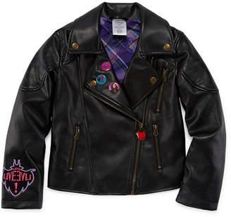 Disney Girls Descendants Midweight Motorcycle Jacket-Big Kid