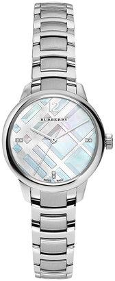 Burberry Women's Swiss Diamond Accent Stainless Steel Bracelet Watch 32mm BU10110 $995 thestylecure.com