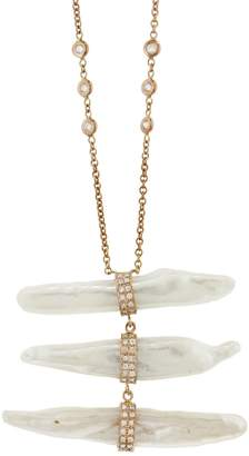 Jacquie Aiche Pearl Ladder Necklace - Rose Gold