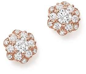 Bloomingdale's Diamond Flower Stud Earrings in 14K Rose Gold, 0.50 ct. t.w. - 100% Exclusive