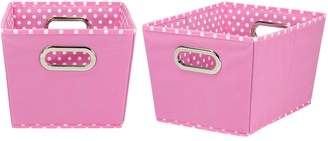 Household Essentials Mini Dot 2-pk. Collapsible Storage Bins - Small