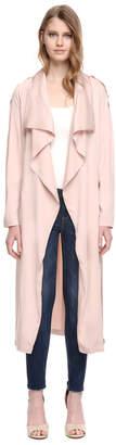 Soia & Kyo MARINELLA straight-fit modal coat with cascade draped collar