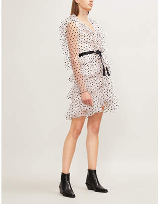 Philosophy di Lorenzo Serafini Ruffled-collar polka dot tulle mini dress