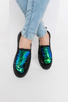 Ardene Two-tone sequined slip-ons